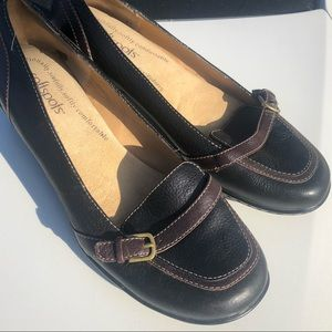 Softspots Work Dress Loafer Black and Brown